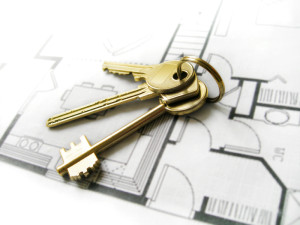 key on blue print iStock_000003094437Small